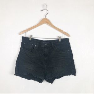 J. Crew Mercantile black cutoff jean shorts